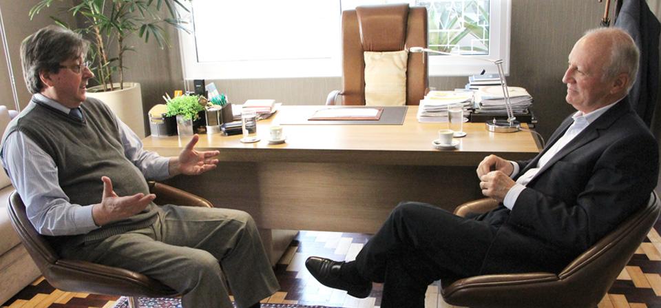 Fehosul recebe visita do presidente da Planisa